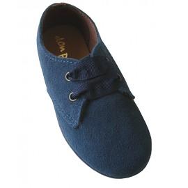 Blucher serraje azul