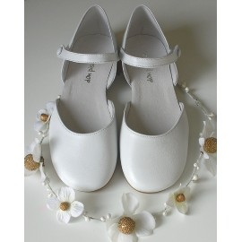 Sandalia pulsera blanca