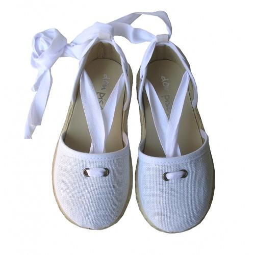 Alpargatas lino blanco