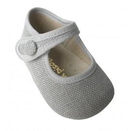 Mercedes bebé lino gris.