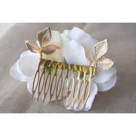 Peineta oro con flor