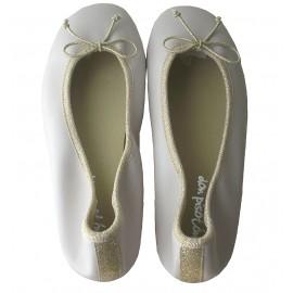 Bailarina piel color crudo/oro