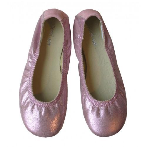 Bailarina ondas metalizada rosa
