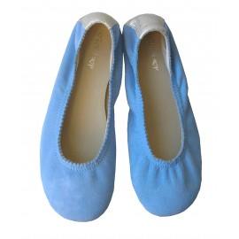 Bailarina ondas azul.