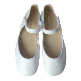 Sandalia piel blanca.