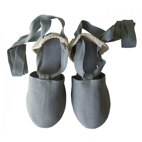 alpargata cintas gris