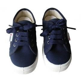 Zapatilla cordones azul