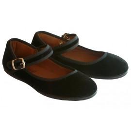 Zapatos terciopelo negro