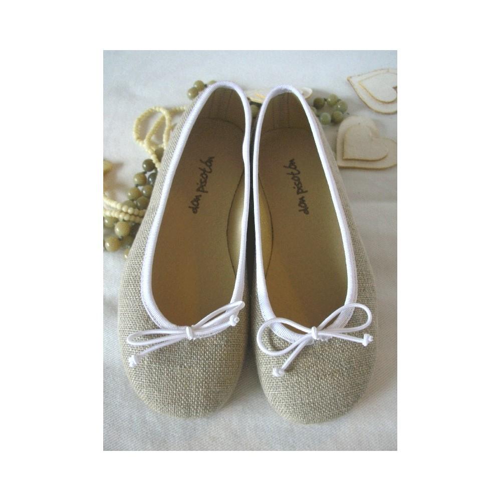 88663d0d Bailarina lino goma - Calzado infantil - Zapatos para niños - Don Pisotón