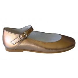 Zapato pulsera metalizado