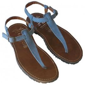 Sandalia serraje azul