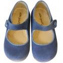 Merceditas serraje azul