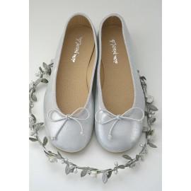 Bailarina piel plata