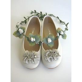 Bailarina flor beig