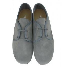 Blucher de ante gris