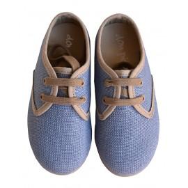 Blucher lino azul