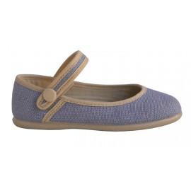 Pulsera lino azul