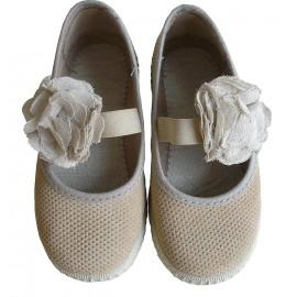 Zapatillas flor beig