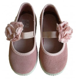 Zapatillas flor rosa