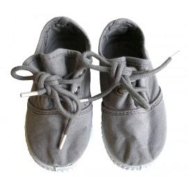 Zapatillas cordones gris