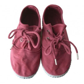 Zapatillas lona marsala