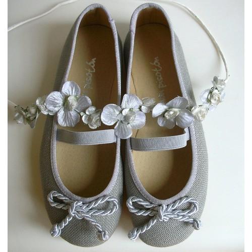 Bailarina lino gris
